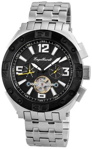 Engelhardt 004 94042 - Orologio da polso da uomo, cinturino in acciaio inox colore argento