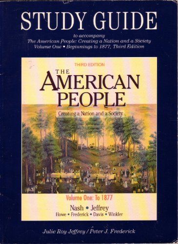 Study Guide Volume 1 to the American People 3e PDF
