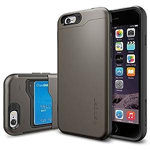 Amazon.com: iPhone 6 Case, Spigen [CARD SLOT] Slim Armor