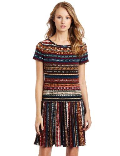 Nine West Dresses Women's Fair Isle Knit Sweater Dress