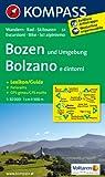 Bozen und Umgebung /Bolzano e dintorni: Wanderkarte mit Kurzführer, Panorama, Rad- und alpinen Skirouten. GPS-genau. 1:50000.