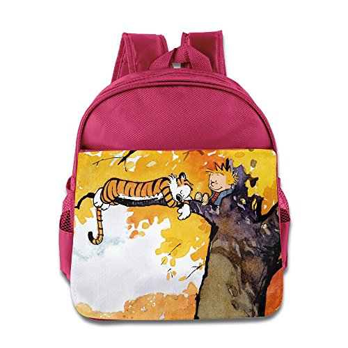 [Momini Boy And Tiger Children School Backpack Pink] (Hobbes Costumes For Sale)