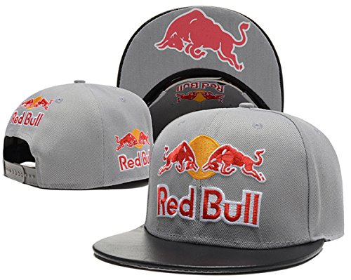 red-bull-unisex-snapback-hat-adjustable-baseball-cap-grey-one-size