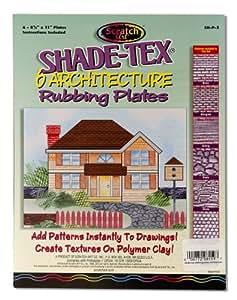 Melissa & Doug Shade-Tex Rubbing Plates - Architecture Set