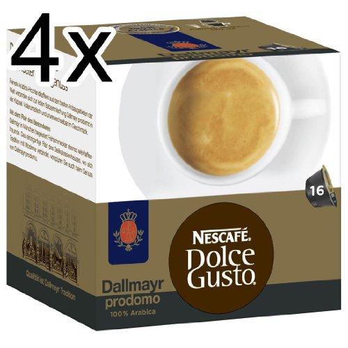 Nescafé Dolce Gusto Dallmayr prodomo, Pack of 4, 4 x 16 Capsules
