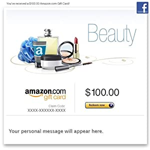 Amazon Gift Card - Facebook - Amazon Beauty