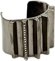 "Paige Novick ""Vendome"" Gunmetal Cuff Bracelet with Crystal Pave Detail by Paige Novick"