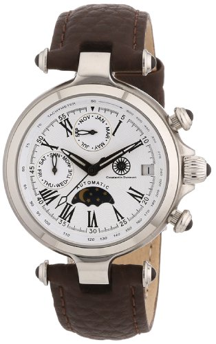 Constantin Durmont CD-MIRL-AT-LT-STST-WH - Orologio da polso donna, pelle, colore: marrone