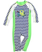 Coolibar UPF 50+ Baby Seaside One Piece Swimsuit - UV Swimwear (6 Months - Dolphin)
