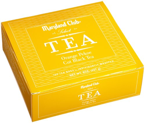 Maryland Club Select Tea, Orange Pekoe, 100-Count Tea Bags (Pack of  5)