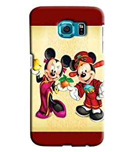 Blue Throat Micky And Mini Mouse Hard Plastic Printed Back Cover/Case For Samsung Galaxy S6 Edge