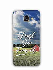 YuBingo Just Go For It Designer Mobile Case Back Cover for Samsung Galaxy A3 2016