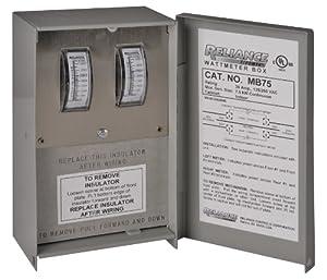 Reliance Controls MB75  Indoor 30-Amp Meter Box