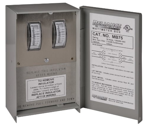 Reliance Controls Mb125 Indoor 50-Amp Meter Box