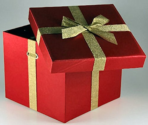 Gift Boxes Box Christmas Holiday Party Red Satin 12/ctn