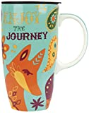 Karma, by Stephen Joseph KA140957 Happy Trails Fox Travel Mug, Multicolor