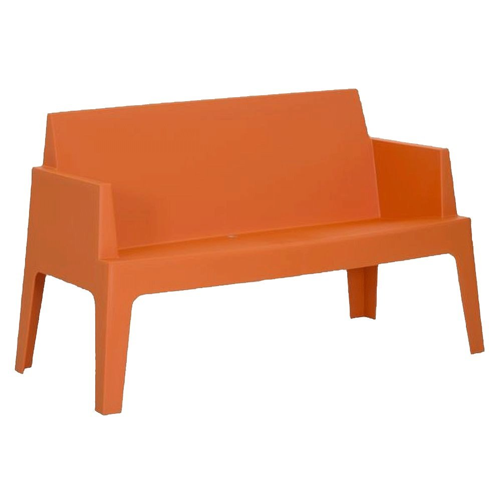Gartensofa stapelbar aus Kunststoff Orange - Modell La Dolce Vita