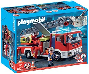 Playmobil 626109 - Bomberos Camión Con Escalera