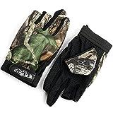 釣り用 手袋 迷彩 葉柄 フィッシンググローブ 指 3本 出し 釣道具 防寒 手袋 伸縮性・吸湿発散性 滑り止め