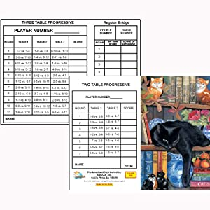On the Shelf Bridge Tallies (12 Pack) 2 & 3 Table Progessive