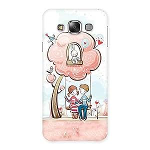 Impressive Swing Love Multicolor Back Case Cover for Galaxy E7