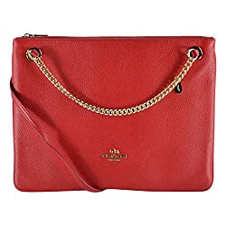 Coach Pebbled Leather Convertible Hippie Crossbody Shoulder Bag 52901 Red