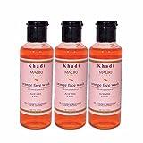 Khadi Mauri Orange Face Wash Pack of 3 Herbal & Ayurvedic 210 ml each