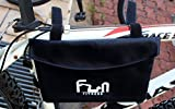 #1 Premium Waterproof Bike Bag Pannier for Top Tube Handlebar Frame Bicycle ★ Protect your iPad, Large Tablets and Huge Phones from Bad Weather ★ Padded and Shock Absorption ★ BACK TO SCHOOL SALE