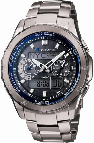 CASIO (カシオ) 腕時計 OCEANUS オシアナス World Time ワールドタイム タフソーラー 電波時計 TOUGH MVT MULTIBAND6 OCW-T400TD-1AJF メンズ