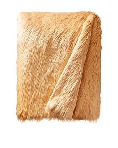 Tourance Faux Fur Throw, Camel
