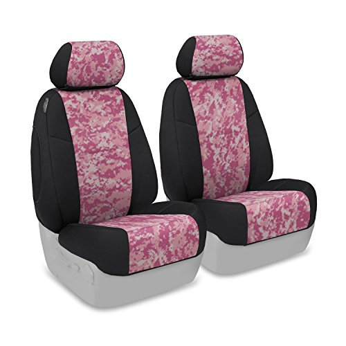 Coverking Front 50/50 Low Back Bucket Custom Fit Seat Cover for Select Yamaha Models - Neosupreme (Digital Pink Camo with Black Sides) (2007 Yamaha Rhino 450 Digital compare prices)