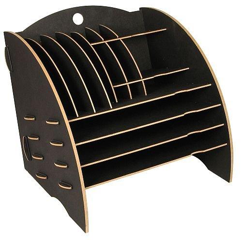 Werkhaus-Ablage-Big-Organizer-in-dunkelgrau-Schreibtischablage-Kleinteilehalter-Briefkorb-CD-Stnder--mit-16-Faecher