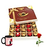 Colorful Wishes With Love Mug And Rose. - Chocholik Luxury Chocolates