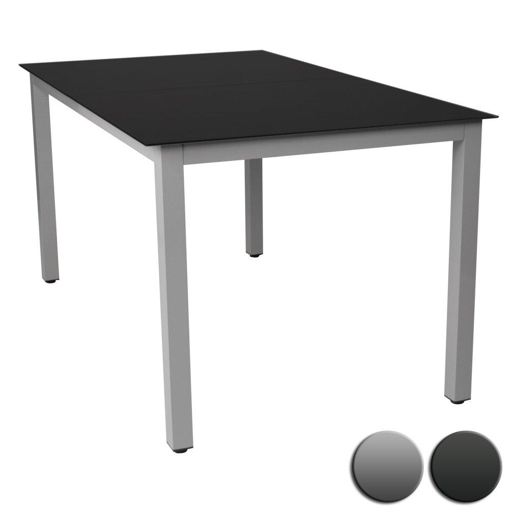 gartentisch glastisch beistelltisch aluminium hellgrau. Black Bedroom Furniture Sets. Home Design Ideas