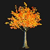 Bright Baum LED Artificial Tree, 5.4-Feet, Amber Maple