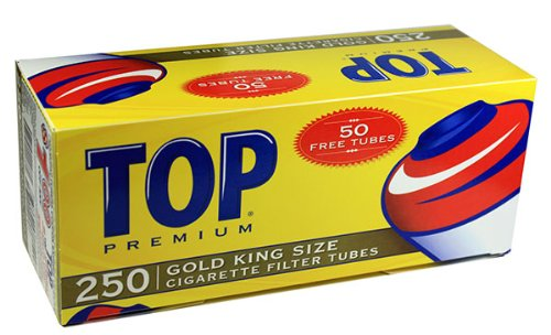Top Gold Light RYO Cigarette Tubes - King Size 250ct Box (5 Boxes) (Top Cigarette compare prices)