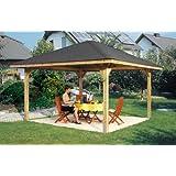 Gartenoase 651 A - Ausführung: Gr. 2, Variante: ohne Dachschindeln, Schindelbedarf: 11 Pkt, Außenmaß: 480 x 480 cm