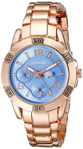 August Steiner Women's Analog Display Quartz Rose Gold Watch