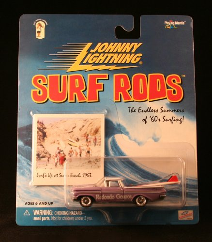 REDONDO GONZOS * PURPLE * Johnny Lightning 2000 SURF RODS Release One 1:64 Scale Die Cast Vehicle - 1