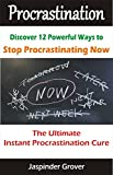 Procrastination : Discover 12 Ways To Stop Procrastinating Now !: The Ultimate Instant Procrastination Cure! (Instant Self Development Series) (English Edition)