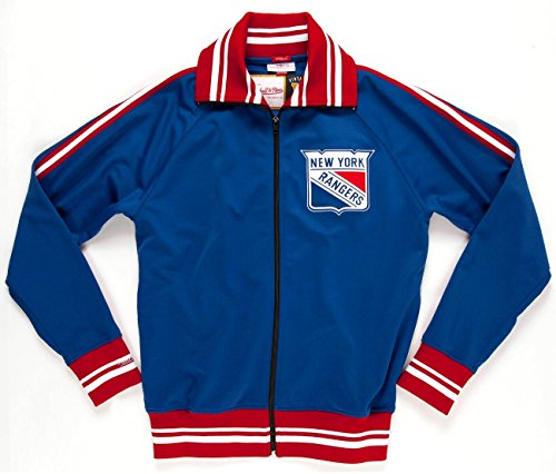 New York Rangers Mitchell & Ness NHL Authentic 77-78 Full Zip Warmup Jacket Giacca