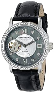 Stuhrling Original Women's 710.02 Vogue Memoire Analog Display Automatic Self Wind Black Watch