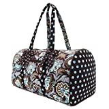Belvah Women's Quilted Floral Large Duffle Bag