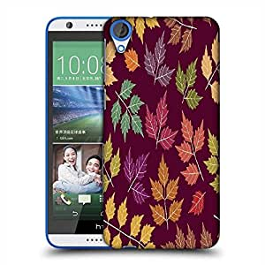 Snoogg a seamless pattern with leaf Designer Protective Back Case Cover For HTC Desire 820