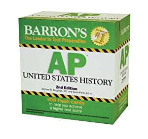 Barron's AP United States History Flash Cards by Michael Bergman and Kevin Preis