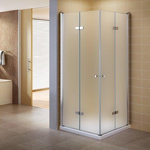 i-flair® - Duschkabine - Satinierte Falttüren - aus Sicherheitsglas