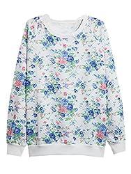YICHUN Women Girls' Pullovers Digital Print Sweatshirts Thin Sweaters