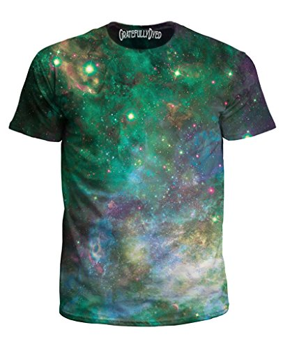 Gratefully Dyed Confetti Cloud Tee – Premium All Over Print Graphic Shirts – Large