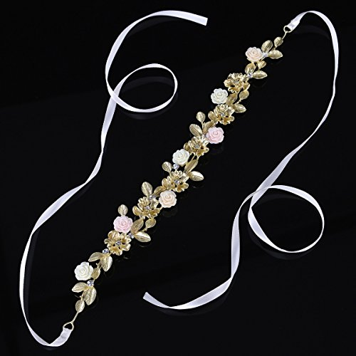 Remedios Flower & Leaves Bridal Wedding Headband Bridesmaid Vine Hair Accessory