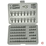 100 pc Security Bits Torx Torq Tamper Proof Hex Set